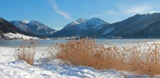 Idyllic schliersee lake in upper bavaria, winter landscape Stock Images