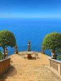 Idyllic seaside terrace Stock Image