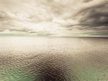 Idyllic shot of horizontal sea water and sky Royalty Free Stock Photo