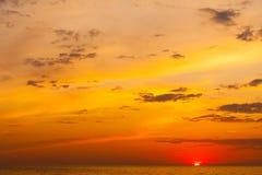 Idyllic shot of sunset by the sea Royalty Free Stock Image