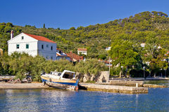 Idyllic small island village waterfront Stock Photography