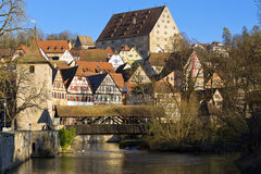 The idyllic small town of Schwaebisch Hall, Germany. Stock Images