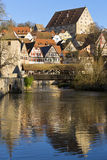 The idyllic small town of Schwaebisch Hall, Germany. royalty free stock image