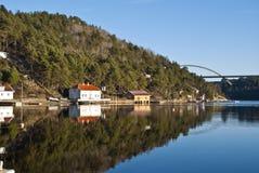 Idyllic in Sponvika. Sponvika is a village in Halden municipality in Östfold (Norway), has 465 inhabitants as of 1 Januari, 2011. Sponvika is primarily a summer Royalty Free Stock Image