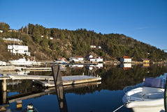 Idyllic in Sponvika. Sponvika is a village in Halden municipality in Östfold (Norway), has 465 inhabitants as of 1 Januari, 2011. Sponvika is primarily a summer Royalty Free Stock Photos
