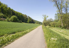 Idyllic spring scenery in Hohenlohe Stock Photo