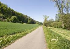 Idyllic spring scenery in Hohenlohe. Idyllic sunny spring scenery in Hohenlohe (Southern Germany Stock Photo
