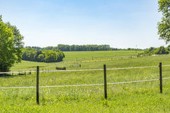 Idyllic spring time scenery. Idyllic rural spring time scenery in Hohenlohe, a area in Southern Germany Stock Photo