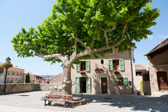 Idyllic square in the French Provence Royalty Free Stock Image