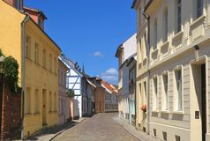 Idyllic street of a small town Royalty Free Stock Photos