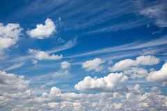 Idyllic summer cloudscape Stock Images