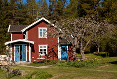 Idyllic summer house in Sweden. Royalty Free Stock Photography