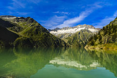 Idyllic summer landscape with clear mountain lake Royalty Free Stock Photos