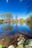 Idyllic summer scenery of at the river Stock Photos