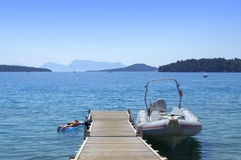 Idyllic summer sea view Royalty Free Stock Images