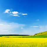 Idyllic Summer Sky and Field Landscape Royalty Free Stock Photography