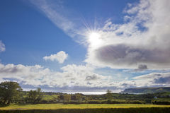 Idyllic Sunny Day in Ireland Royalty Free Stock Photography