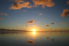 Idyllic sunset royalty free stock photo