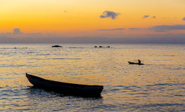 Beautiful sunset over sea, Madagascar stock photography
