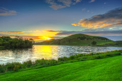 Idyllic sunset scenery Stock Photos