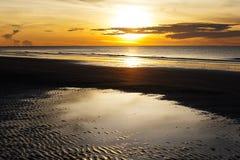 Idyllic sunshine on seaside. At  Nava Gorn beach, Prachuap Khiri Khan country Thailand Royalty Free Stock Photography