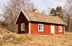 Idyllic Swedish house. Royalty Free Stock Photography