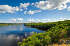 Idyllic Swedish lake. In the summer time Royalty Free Stock Photography
