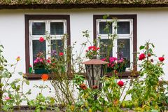 Idyllic thatched-roof cottage at the Lieper Winkel, Usedom, Germany Stock Photography