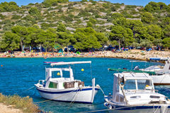 Idyllic tourist destination beach in Croatia Stock Photo