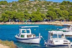 Idyllic tourist destination beach in Croatia Stock Photo