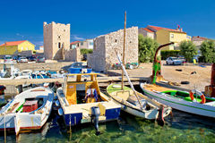 Idyllic town of Razanac waterfront Stock Photo