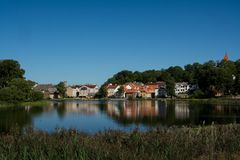 Idyllic town Royalty Free Stock Images