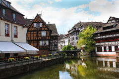Idyllic town of Strasbourg Royalty Free Stock Images