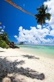Idyllic tropical beach. On Mahe island at Seychelles Royalty Free Stock Image