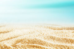 Idyllic tropical beach background Stock Images