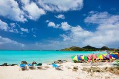 Idyllic tropical beach at Caribbean Royalty Free Stock Images