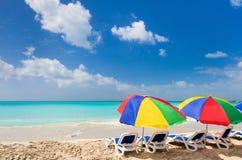 Idyllic tropical beach at Caribbean Stock Images