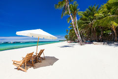 Idyllic tropical beach Royalty Free Stock Image