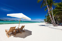 Idyllic tropical beach Royalty Free Stock Images
