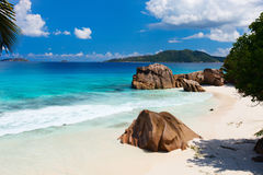 Idyllic tropical beach Stock Images