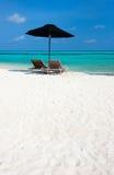 Idyllic tropical beach at Maldives Stock Image