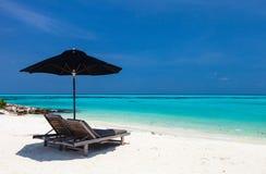 Idyllic tropical beach at Maldives Stock Photo