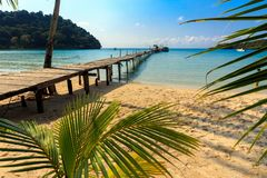 Idyllic tropical beach. Od Ao Phrao in Ko Mook island, Thailand Royalty Free Stock Image