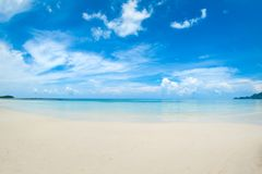 Idyllic tropical beach, palm, white sand and crystal clear water. Amazing beach. Landscape for background or wallpaper. Koh Samui, Thailand stock images