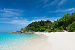 Idyllic tropical beach. Of Similan Islands with white sand and  transparent  turquoise water, Ko Miang, National Park Stock Images
