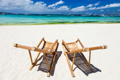 Idyllic tropical beach Royalty Free Stock Photography