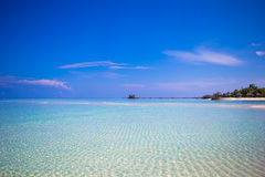 Idyllic tropical beach with white sand and perfect Royalty Free Stock Image