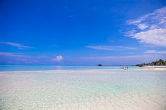 Idyllic tropical beach with white sand and perfect Stock Photography