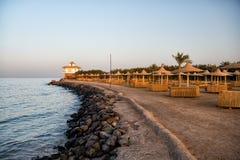 Idyllic tropical resort beach Royalty Free Stock Image