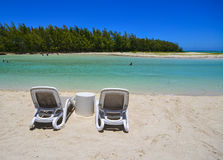 Idyllic tropical sea and turquoise water Stock Photo